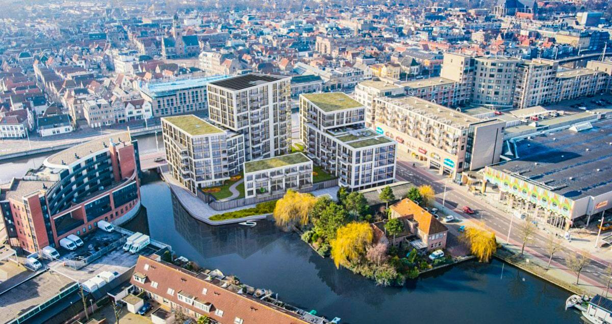 Alkmaar - Dockside - ai vogelvlucht_1